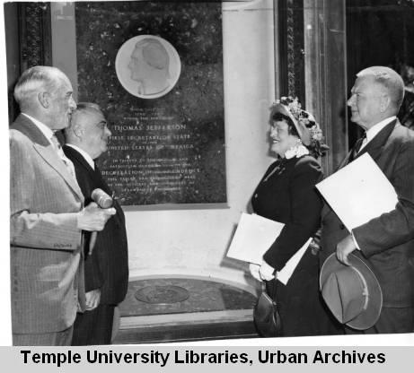 Plaque Dedication at Strawbridge and Clothier, 1945