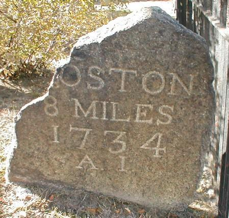 Marker for Boston Post Road