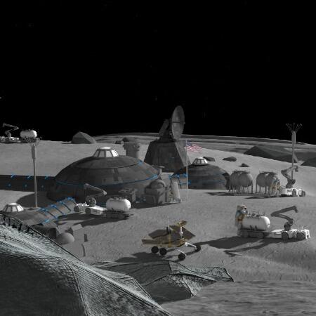 Rendering of lunar habitat