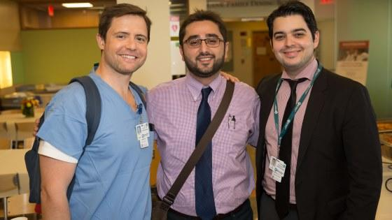 Trainees Daniel Learned, Mohammad Dahrouj, and Athanasios Papakostas