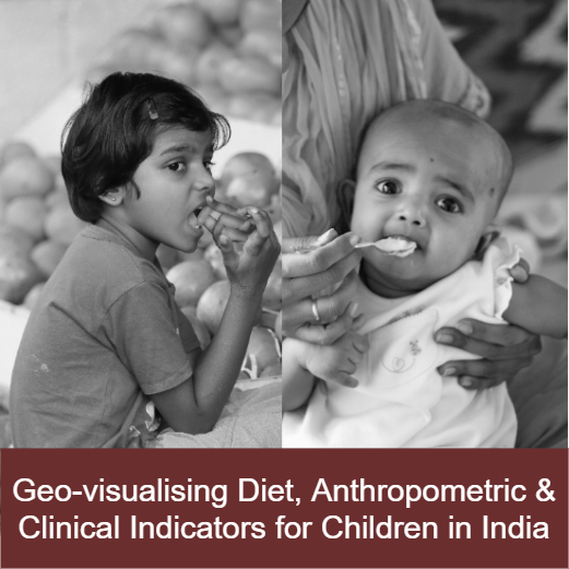 Geo-visualising Diet, Anthropometric and Clinical Indicators for Children in India