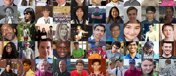A collage of photos showing the faces of people who have enrolled in edX courses