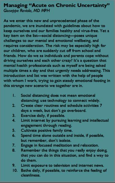 managing mental health in covid 19