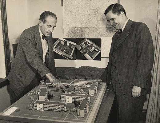 Walter Gropius and Erwin Griswold