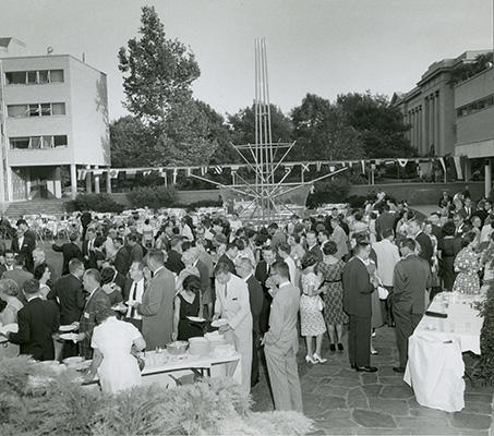 Reception on Jarvis field, 1961?