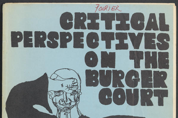 Critical Perspectives on the Burger Court_front cover_HOLLIS 012590154