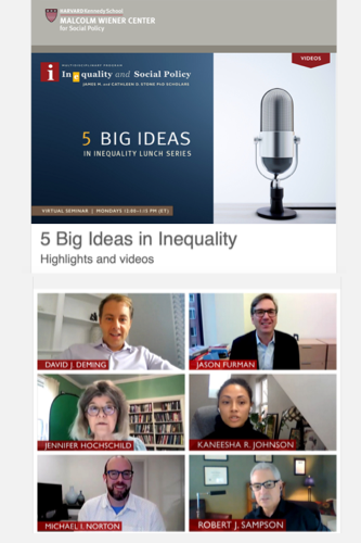 5 Big Ideas in Inequality - Highlights and Video