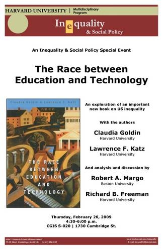 Race between Education and Technology poster