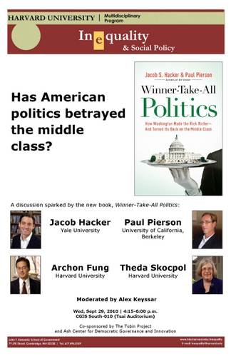 American politics and middle class poster