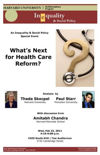What's Next for Health Care Reform poster