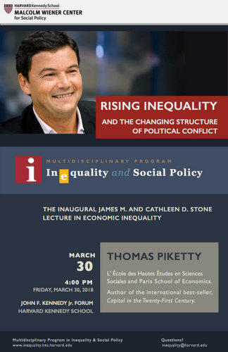Inaugural Stone Lecture by Thomas Piketty