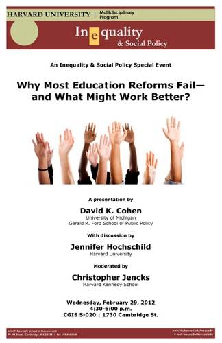 Why Most Education Reforms Fail poster