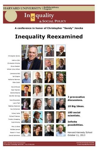 Reexamining Inequality event poster
