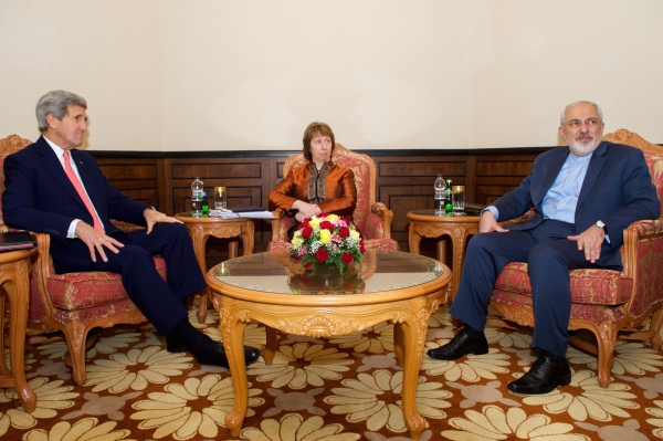 Kerry, Zarif, and Ashton Meet in Oman