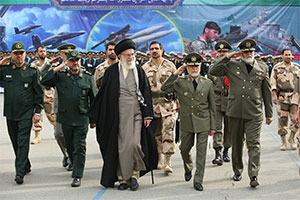 Ayatollah Khamenei attends a military graduation