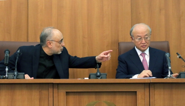 Ali Akbar Salehi and Yukiya Amano in Tehran