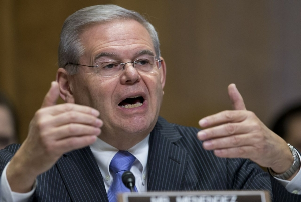 Senator Robert Menendez at a Senate Foreign Relations Committee Hearing