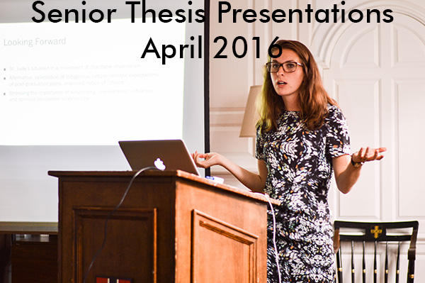 Senior Thesis Presentations