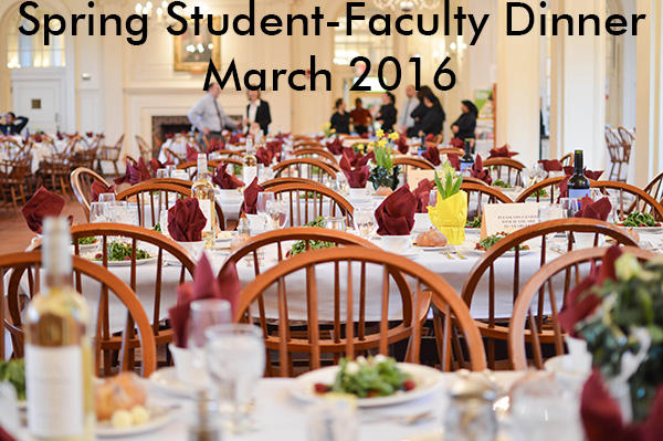 Spring Faculty Dinner, March 2016