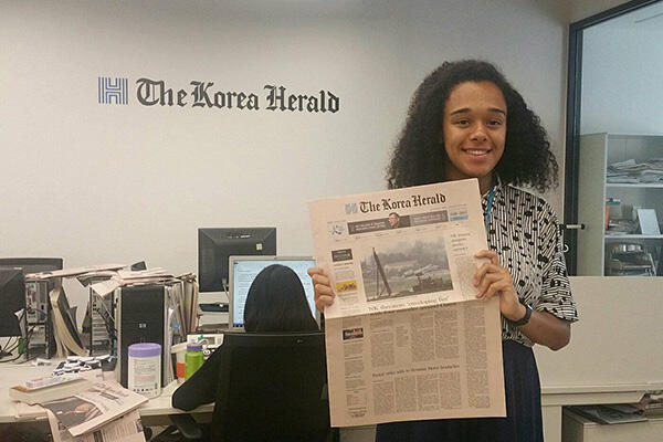 undergraduate student interning for the Korea Herald