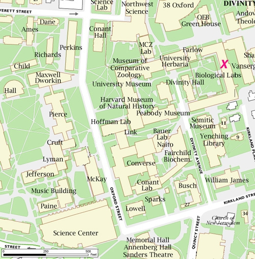 Directions to the Harvard University Neurobiology advising offices