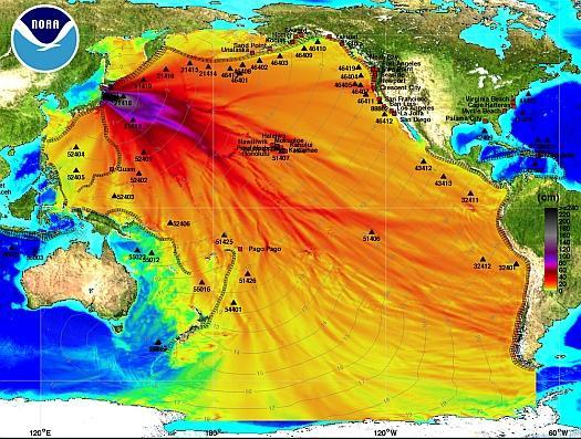 Japan Earthquake map