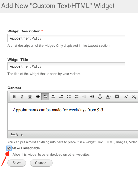 How to make widgets embeddable on other sites