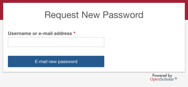 reset password section