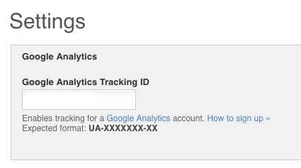 Adding Google Analytics tracking code to OS site