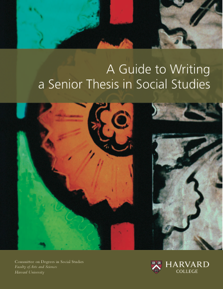 Master thesis on social sciences