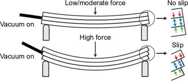 Comparison between moderate and high force