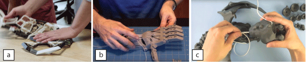 Running Tendons by Hand
