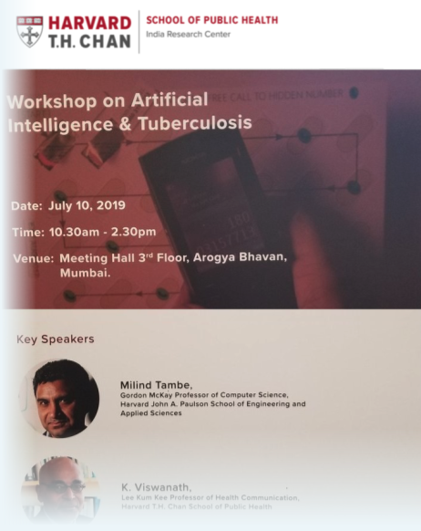 In collaboration with Government of Maharashtra, the workshop will be led by Dr. Milind Tambe of Harvard Chan and University of Southern California. The half-day workshop will include participants from Microsoft Research India, Everwell, Wadhwani AI.