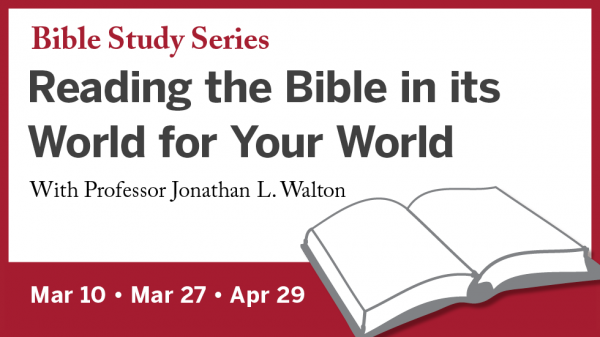 Bible Study Series: Reading the Bible in its World for Your World