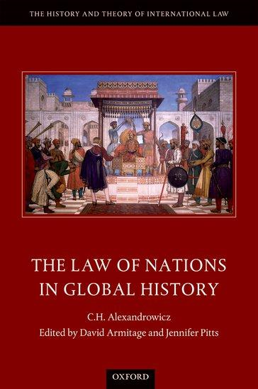 Image of book cover The Law of Nations in Global History