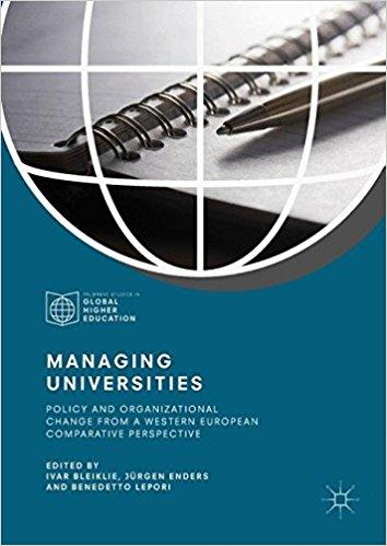 Image of book cover of Managing Universities