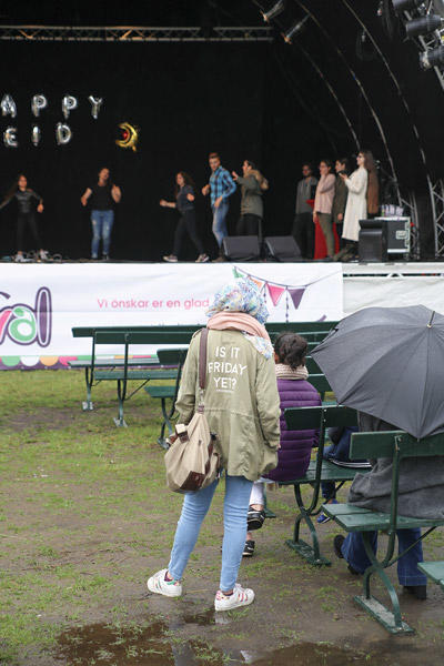 Young woman at public Eid Festival in Malmo