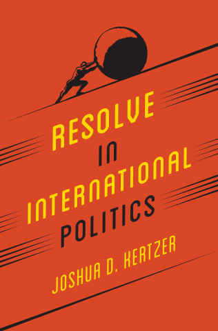 Book cover of Resolve in International Politics