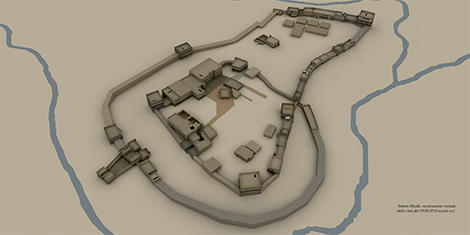 Virtual reconstruction of the site during MBA2