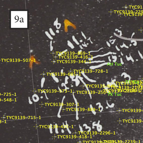 Plate b20650 mapped to the night sky with modern software