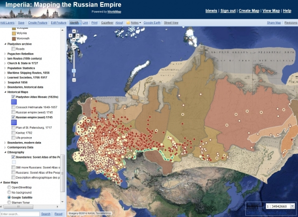 WorldMap -  Mapping the Russian Empire