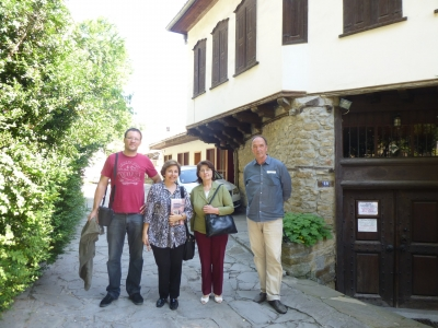 Gülru Necipoğlu in Bulgaria with art historian and historian  colleagues, Veliko Turnovo Sarafina-Haus Bulgaria. June 2015