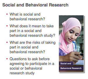 Social and Behavioral Research