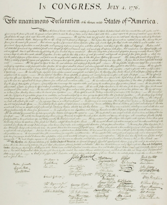 E.M. Weeks Engraving of the Declaration of Independence, 1936