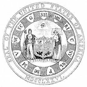 Benson Lossing, 1856 Interpretation of First Committee Design (Obverse)
