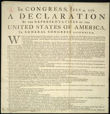 Washington's Copy of Dunlap Broadside