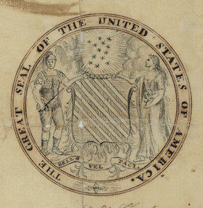 Francis Hopkinson, Design for Great Seal of the United States (Obverse)