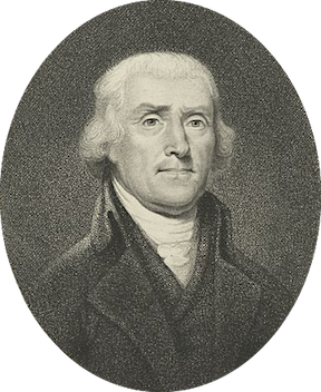 Portrait of Thomas Jefferson, Courtesy of NYPL Digital Library