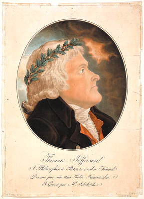 Portrait of Jefferson by Kosciuszko