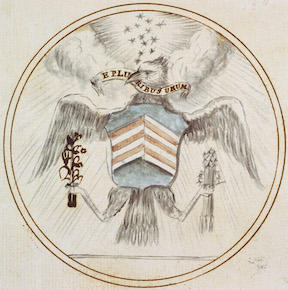 Charles Thomson, Preliminary Design for Great Seal of the United States